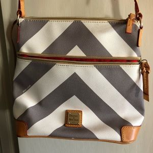 Dooney & Burke leather chevron crossbody purse